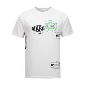 2020 럭셔리 유럽 파리 자수 대비 패치 워크 t- 셔츠 패션 남성 잉글랜드 런던 클래식 T 셔츠 캐주얼 남성 의류 코튼 티 # 128