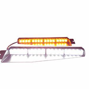 32LED 32 Вт LED Lightbar козырек света лобовое стекло аварийного предупреждения об опасности строб Маяк Сплит Маунт палубы тире лампа (AmberWhite)