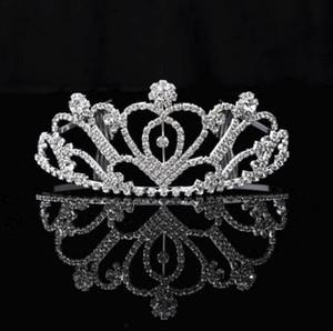 2020 joyería Coronas desfile Quinceanera de boda para las mujeres del Rhinestone de Bling rebordear nupcial del pelo tocados de fiesta de los vestidos de tiaras