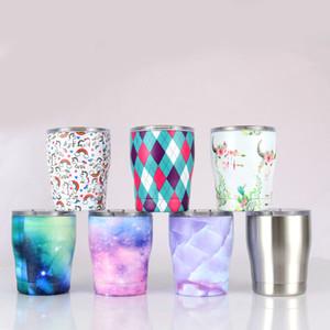 새로운 12oz 스테인레스 스틸 와인 안경 뚜껑 이중 벽 진공 계란 컵 어린이 우유 컵 커피 맥주 유리 여행 머피시피 컵