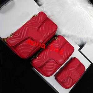 Femmes Designer Sacs à coeur d'amour sac Mini chaîne Flap Crossbody sacs à main de haute qualité cuir véritable taille matelassée Sac à main 26cm