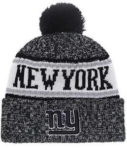 NUEVO Sombrero de punto con rayas y diseño deportivo de American Sideline Sport Bonnet Wool Bonnet Warm Cheap Beanies NY NYG Giants Knit Skull Cap para hombres Mujeres 03