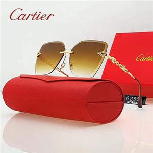 Lusso senza montatura Marine Lense occhiali da sole firmati Occhiali da sole oversize modo delle donne degli occhiali da sole polarizzati UV adumbral degli occhiali di protezione con la scatola