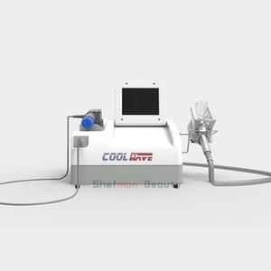 Новые портативные Cryolipolysis жира Замораживание Shock Wave Therapy машина Shockwave тела для похудения Потеря веса оборудования 2 ручки