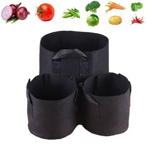 5 PCS Grow Bags Ground Garden Heavy Duty Non-Foven Aeration Plant Frick Container Flower Vegetable