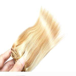 Blonde Brazilian Hair Human Hair Piano color P27 613 100g brazilian straight hair weave bundles 100g pc weave 1PCS