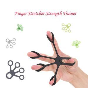 Hand Finger Stärke Exerciser Trainer Stärkungs Grip Resistance Band Silikon-Finger-Rehabilitations Puller 0815
