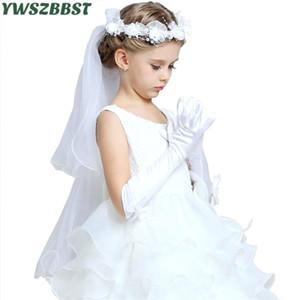 يوم الأميرة بنات قفازات الحرير طويل للطفولة الهدايا الحفلة الراقصة حزب الرقص مع bowknot الأطفال إكسسوارات اللباس