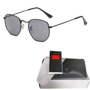 Мода металлического шестигранных очков мужчина womne горячего HD ретро круглой роскошь солнцезащитных очков Gafas очки óculos де золь с первоначально коробкой и корпусом