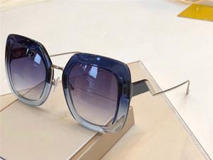 Lunettes de soleil de marque pour femmes de luxe 0317 Simple Suqare Cadre Sun glassses Haut grade dégradé couleur Lunettes Haute qualité protection UV400