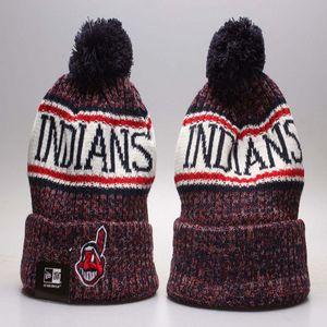 Sıcak Satmak Beyzbol Hintliler Kış Şapkalar Beanies Erkekler Kadınlar Için Cleveland Spor Kasketleri Marka Örme Şapka En Kaliteli