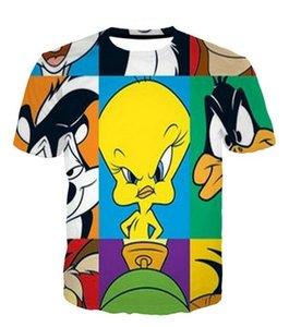Mode Hommes récent / Womans Cartoon Looney Tunes d'été de style T-shirts 3D Imprimer Hauts T-Shirt Casual Taille Plus BB0138
