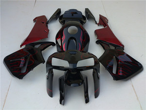 4Gifts Custom Free Injection Mold New ABS Motorcycle Fairings Kits Fit for HONDA CBR600 2005 2006 CBR600RR F5 CBR Orange and Black Splatter