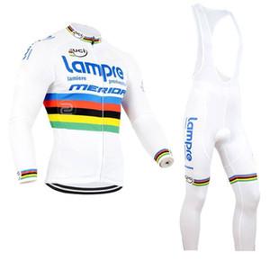 LAMPRE команда Велоспорт длинные рукава Джерси нагрудник Длинные брюки наборы 2019 Велосипед Велоспорт одежда велосипед Надеть Открытый Спортивная Gel Pad A155544