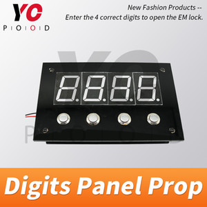 Digits Panel Prop Escape Room Game Press the Correct Digits Password to Unlock Takagism Room Game Press reset password to reset