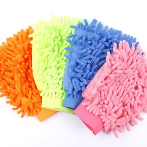 Coral car wash gloves Single-sided car cleaning gloves Cleaning rag tools