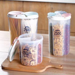 1500ml / 2500ML armazenamento de cozinha Box Grãos feijão feijões de café tanque de armazenamento lanche Organizador Food Container massas caixas de armazenamento