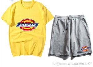 New Brand Summer Mens tracksuit short sleeve Designer T shirt + shorts casual hoodies sports suit sports set Womens Round neck Sportswear
