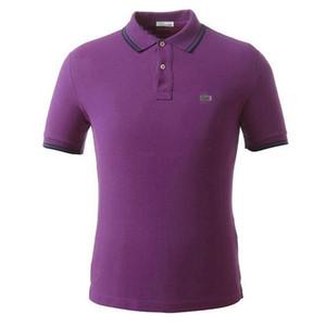 Mens Designers chefes camisas pólo masculino Hugo Verão Turn Down Collar manga curta Cotton Poloshirts Homens polos casual tops 824-7