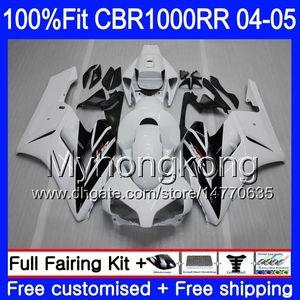 Heißes weißes Gehäuse + Tank der Einspritzverkleidung für HONDA CBR 1000RR CBR1000 RR 04-05 275HM.10 CBR1000RR 04 05 CBR 1000 RR 2004 2005 OEM Fairings-Kit