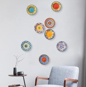 새로운 레스토랑 호텔 가정용 장식 창조적 인 세라믹 매달려 플레이트 벽 매달려 플레이트 설정 플레이트 장식 접시