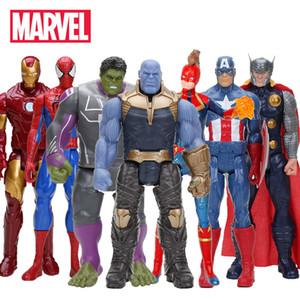 "30cm / 12"" Marvel The Avengers Giocattoli Infinity War Hulk Thanos Buster Spiderman Iron Man Capitan America Thor Action Figure Dolls"