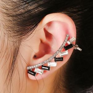 Livraison gratuite Mixed 20pcs alliage personnalité femmes diamants cristal Boucles d'oreilles clips oreille broches d'oreille Dance Party Lolita Punk Skull Bijoux 113