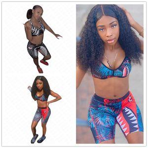 Femmes Designer Maillot de bain 2 pièces bikini ensemble Push Up Bras réservoir Gilet + Shorts Maillots de bain Bas Plage Natation Maillot de bain Tankinis Hot D61806