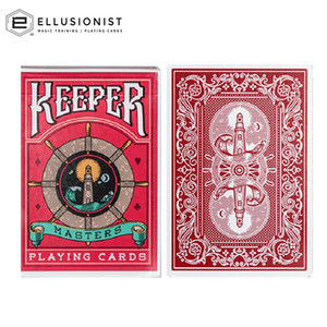 Ellusionist Keeper Masters Red Marked Playing Cards Bicycle Deck USPCC Poker Magic Card Games Magic Tricks Props for Magician