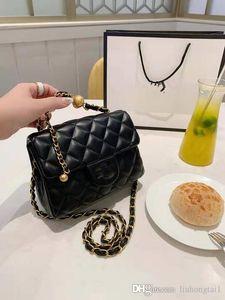 Ele New Bag Feminino 2020 Diamante Malha Cadeia Couro Ombro Balde sacos Mulher Sua macia bolsa das mulheres Meninas Designer Shoulder Bag