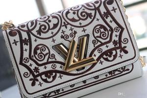 19FW Vintage Femmes sac en cuir Concepteurs Serpentine serpent impressions Bow Petit sac à bandoulière Sacs à bandoulière de luxe Chain Clutch Purse YECQ4