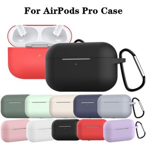 Silicone Case For AirPods Pro Case Anti-fall Waterproof Protective Case For AirPods Pro Earphone Box For Air Pods with Keychain