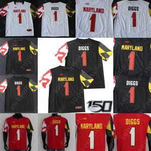 CUSTOM NCAA Maryland Terrapins del jersey del fútbol Taulia Tagovailoa 1 Stefon Diggs 82 Torrey Smith 6 Jeshaun Jones Boomer Esiason EJ Henderson