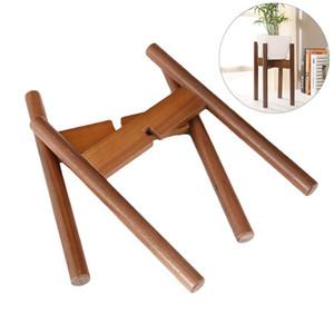 Tiesto rack Planta portátil Útil Cruz decorativa de madera de haya cubierta soporte del pote Soporte para el Jardín