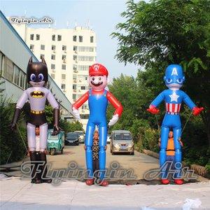 Напольное представление парада гуляя Раздувная кукла Капитана Америки высота 3.5 m взрывает вверх костюм Марио для Comic-con и выставки празднества