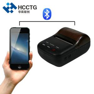 الحجم 58mm وجيب محمول صغيرة محمولة موبايل الروبوت بلوتوث الطابعة الحرارية مع 1D / 2D الباركود الطباعة HCC-T12