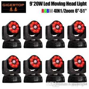 Gigertop 8 Units 9x20W ZOOM Wash LED Moving Head Light RGBW 4в1 LED Шайба Moving Head