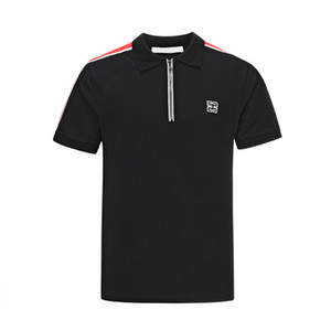 2019 La última tendencia de los hombres sobre las tiras de los hombros. Versión coreana de la camiseta delgada. Diseñador de comercio exterior.