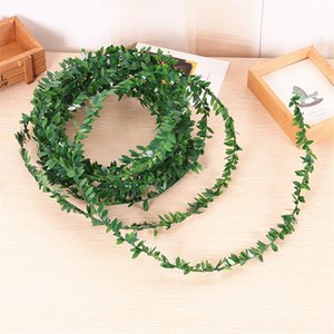 1pcs Artificial Vine green leaf 7.5m Simulated Fake Rattan Small Green Leaves 1.5cm home garden yard deco