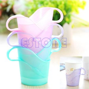 Wholesale- Lovely 6Pcs Plastic Disposable Paper Cup Mug Holder Heat Cold Insulation