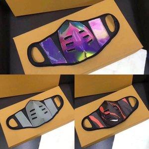 Горячая распродажа ! Маска для лица с регулируемыми многоразовыми масками для рта дизайнерские маски кожаные маски бренда Half Face