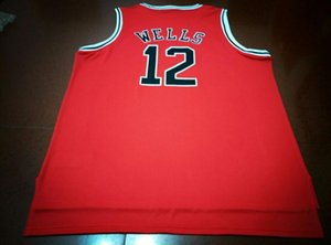 Custom Men Youth women Vintage #12 WELLS Metta World Peace Salle Academy Basketball Jersey Size S-6XL or custom any name or number jersey