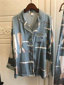 QWEEK Pajamas for Women Sleepwear Sleep Lounge Satin Pijamas Mujer Silk Pyjamas Nightwear Long Sleeve Home Clothes 2020 Homewear