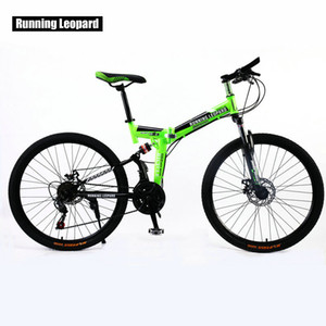 Correndo Leopard 26 polegadas frente da bicicleta 21 velocidade e traseira amortecedor de mountain bike cross country bmx estudante bicicleta