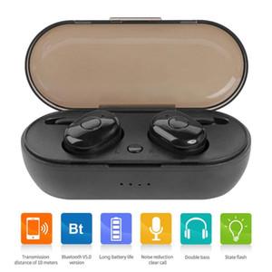 Nouveau TWS 1350 écouteurs Bluetooth BT 5.0 True Wireless casque stéréo Bluetooth Écouteurs sport Écouteur intégré avec boîte de charge de stockage 1pcs