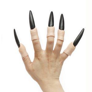10pcs Zombie-Fälschungs-Finger-Hexe-Nagel-Set Halloween Prop-Partei-Dekoration Hexe-Geist-Nagel-Sätze weicher Kunststoff falsche Finger Nail DBC VT0705