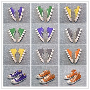 2020 Hot Sale Retro Vulcanized Classic Low-Top Yellow Black Crystal Bottom Men Canvas Casual Shoes Women All Star Rainbow Canvas Shoes