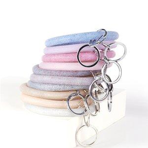 Silicone Wrap Bracelets Clés Anneau Flash Poudre Bracelet Porte-clés Homme Femme Fitness Exercice Bracelets Boucle De Mode 6zy L1
