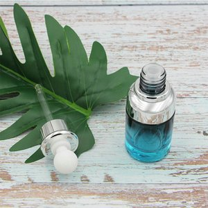 Moderate Price 20ml 40ml Luxury Glass Dropper Bottle Unique Serum Bottle Blue Color with Special Dropper