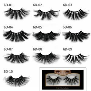 6D Mink Eyelashes 25mm Messy Cross Mink False Lashes Soft Natural Thick Eyelashes Eye Lashes Extension Beauty Tools GGA2029